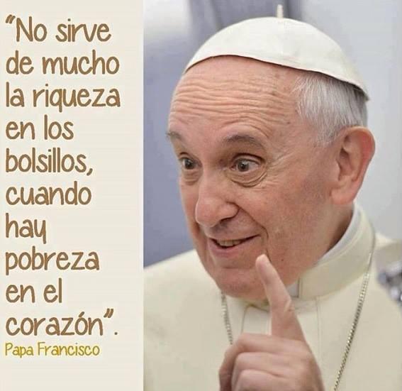 Resultado de imagen de frases del papa sobre la generosidad