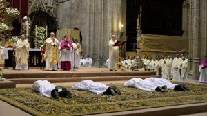 Ordenaciones en la Iglesia de Sevilla